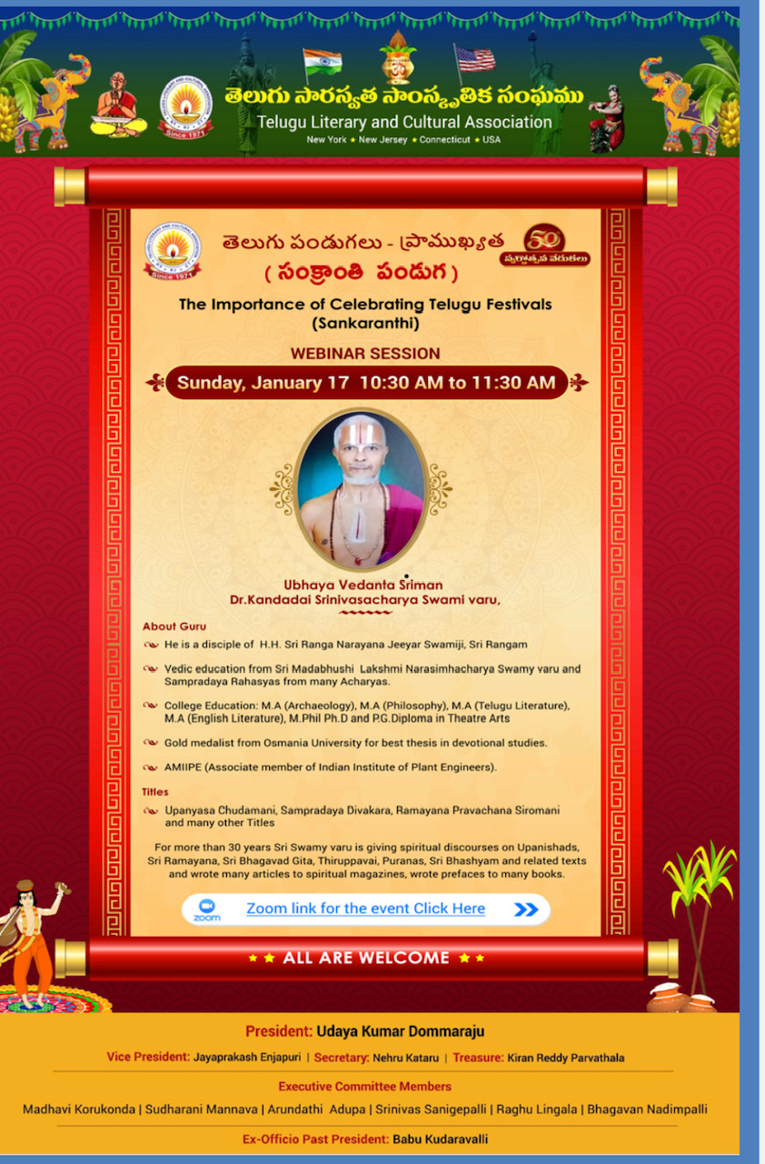 Telugu Discourse on Festivals